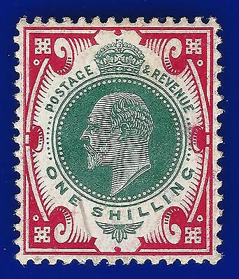 1905 SG257a 1s Dull Green & Carmine (CSP) M46(1) Unmounted Mint (MNH) Cat £220