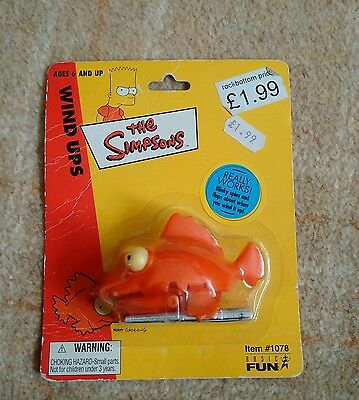 the simpsons blinky the three eyed fish wind up toy 2002 from basicfun