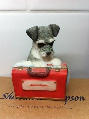 Sherrartt & Simpson Schnauser Puppy With Box 55133
