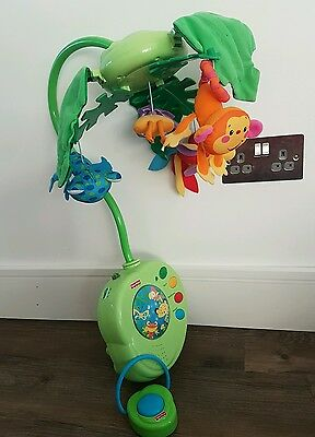 Fisher Price Cot Mobile Rainforest Peek-a-boo