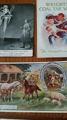 3 advertising post cards