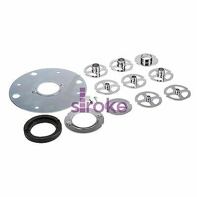 TGA250 Router Template Kit 12 Piece 30mm Guide Bush & Steel Plates