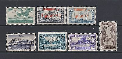 Seven stamps of the Lebanon