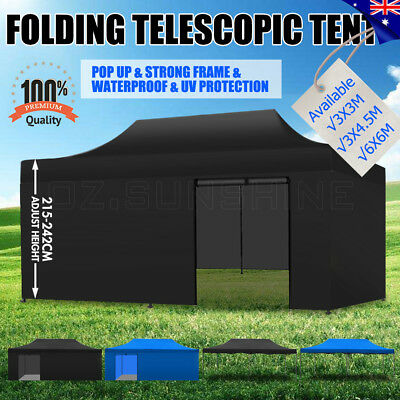 3x6m Outdoor Gazebo Folding Pop Up Tent Marquee Canopy Party Market Camping BBQ