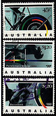 AUSTRALIA Used Scott # 1268-1270 Paralympics - some remnants (3 Stamps)