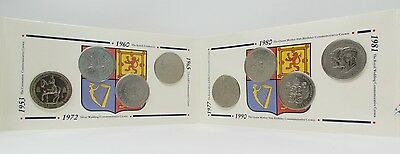 1953 - 1990 Royal Mint Queen Elizabeth II Crown Collection Coin Set