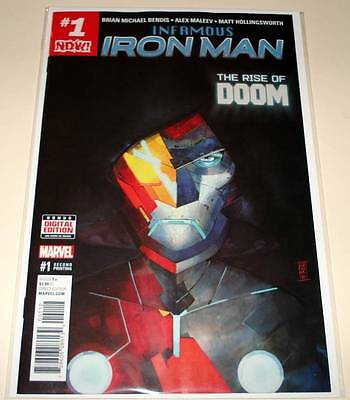 Dr. Doom INFAMOUS IRON MAN # 1  Marvel Comic  2017  2nd PRINTING VARIANT COVER
