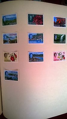 Qe11 Collection Of 10 Mint Stamps From Grenada
