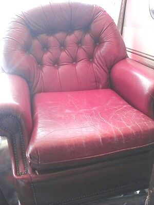 vintage, leather arm chair.......