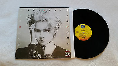 "MADONNA HOLIDAY / LUCKY STAR 12"" SPANISH P/S scarce 1983 UNIQUE not promo SPAIN"