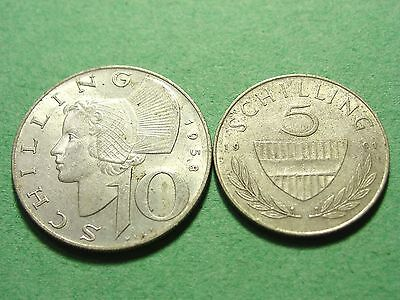 AUSTRIA Lot of 2 Silver Coins