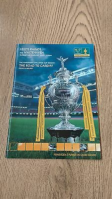Leeds v Whitehaven 2003 Challenge Cup 4th round Rugby League Programme