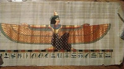 Beautiful Large Hand Painted Papyrus From Egypt