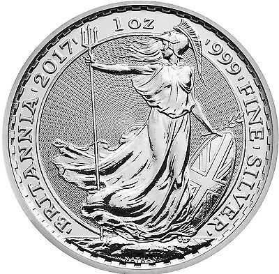 NEW 2017 UK BRITANNIA 1 OZ SILVER COIN  air-tite protected