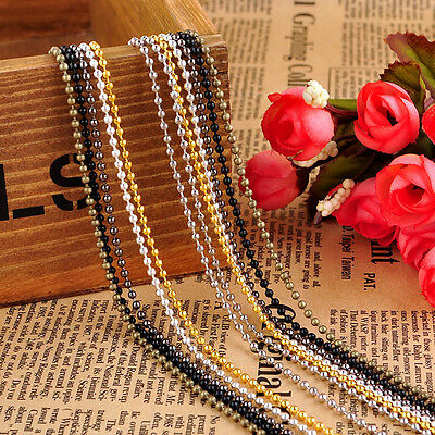 100x Bead Chains 70cm Length Top quality Dog Tag Chains 2.4mm and 1.5mm