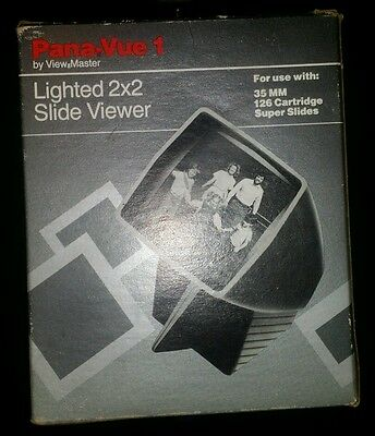 Pana-Vue 1 by View Master Lighted 2x2 Portable Slide Viewer