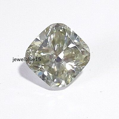 Excellent Cushion Cut Off White Color 4.18 Ct 10.15 mm loose moissanite