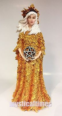 New * Autumn * Wicca Pagan Figurine Statue Ornament Nemesis Now  C1147