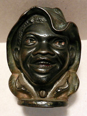 A.C.Williams LARGE size Two Faced Black boy still bank ORIGINAL old bank