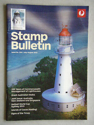 Australia Post Stamp Bulletin Issue No. 335 Jul - Aug 2015 100 Years Lighthouses