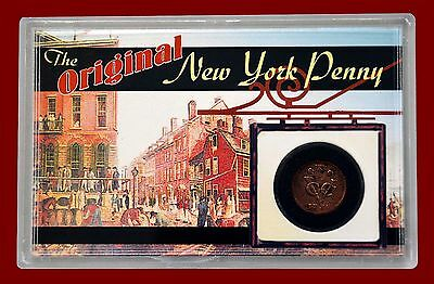 """1735 Original New York Penny"" REFURBISHED - TAKE A SECOND LOOK !!"