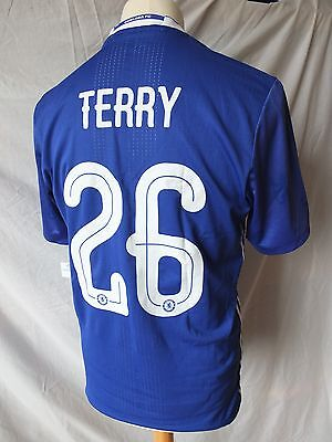 Authentic Chelsea 2016/17 Home Cup Adizero Player Issue Spec Shirt TERRY 26 L