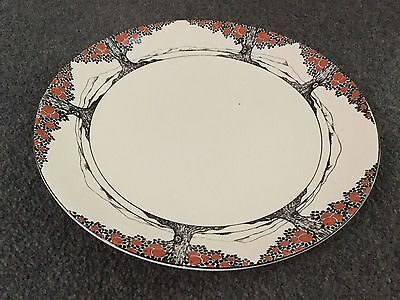 Crown Ducal Orange Tree Art Deco Extremely Rare Curved Large Plate