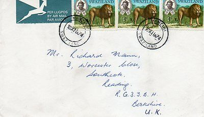 Air Mail Cover Swaziland