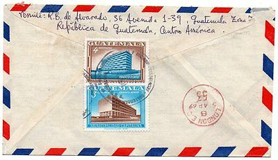 Air Mail Cover Guatemala