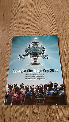 Leeds v Harlequins 2011 Challenge Cup 5th round Rugby League Programme