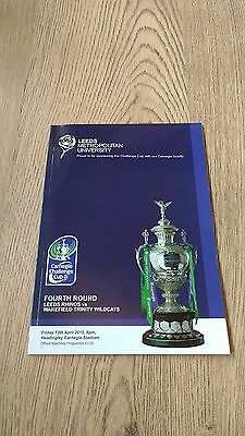 Leeds v Wakefield Trinity 2012 Challenge Cup 4th round Rugby League Programme