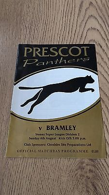 Prescot Panthers v Bramley 1996 Rugby League Programme