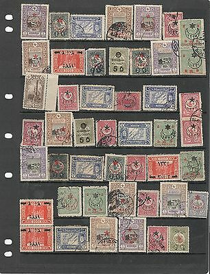 hl10 Turkey stock page 47 stamps mixed condition