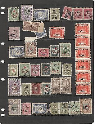 hl12 Turkey stock page 41 stamps mixed condition