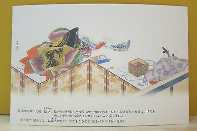 Japanese Tale of Genji Greeting Post Card Chapter 17 E Awase The Picture Compet