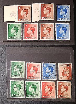 GB KEVIII Selected MNH / MM (1) & Used Stamps (No1928)