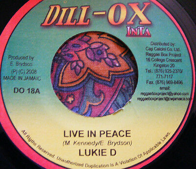 Lukie D-Live In Peace-Dill-Ox Inta-New-Record-Free Post-More Reggae Instore Look