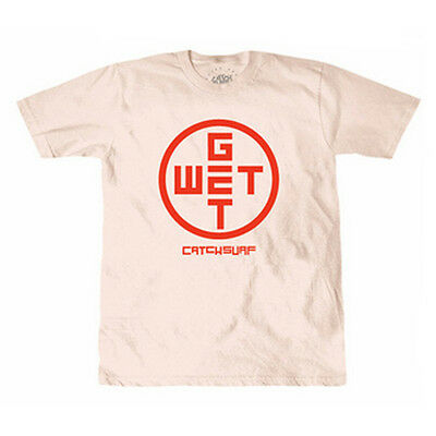 Catch Surf 'get Wet Tee' Mens Short Sleeve T-Shirt L Large Coral Surf New
