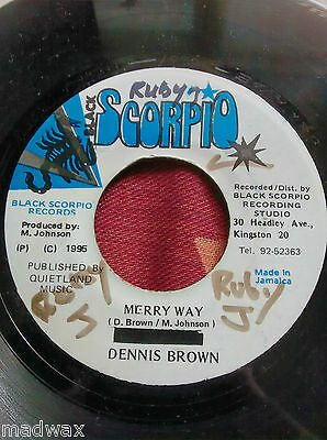 Dennis Brown-Merry Way-Reggae Roots Dub-7-Inch Vinyl Record-Free Post