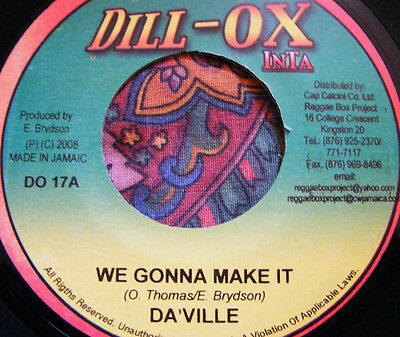Da'ville - We Gonna Make It - Dill-Ox Inta - Modern Roots Killer - Free Post