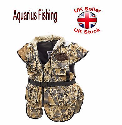 "Aquarius Fishing PFD Buoyancy Aid Life Jacket Vest 45N-50N ""Grass Leaves"""