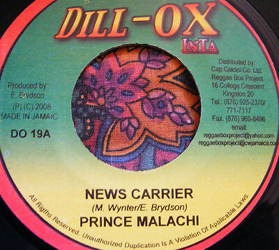 prince malachi - news carrier - dill-ox inta - heavy - dub - roots - new - vinyl