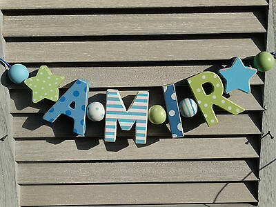 """""""amir"""" Wooden Letters Letter Door Name Baby Shower Decoration  Shabby Chic"""
