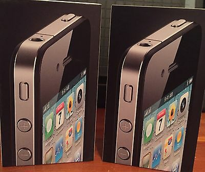 Original 2 Empty Boxes ONLY for Apple Iphone 4 16GB Black