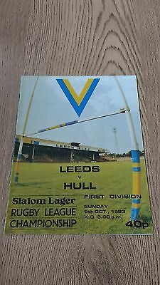 Leeds v Hull 1983 Rugby League Programme