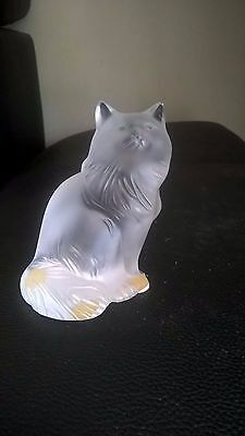 lalique cristal chat