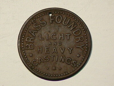 1888 Brass Foundry Heavy Castings, Pritchard  Andrews Token Breton #774,  #4501