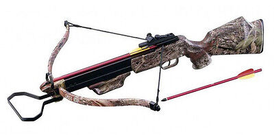 150lbs camouflage Hunting Crossbow + Scope + Pack of Arrows