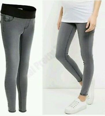 Grey New Look Maternity Under bump Jeggings / Skinny jeans 10-18.New with Tags