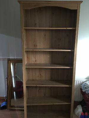 Attractive Simple Large Tall Floor Open Bookcase